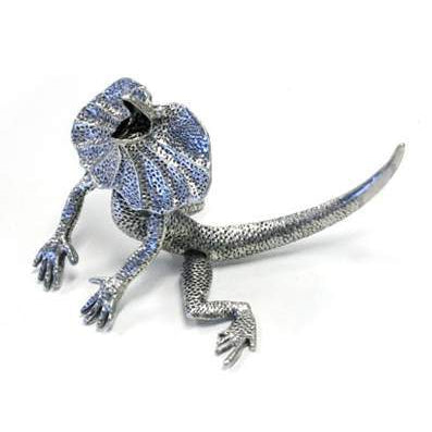 BP183 Pewter Frilled Neck Lizard - Medium-Buckingham Pewter