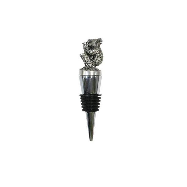Bottle Stopper with Pewter Koala-Buckingham Pewter
