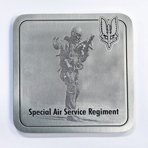The Special Air Services SAS Regiment Coaster - Commando CT Trooper (SASR) - Buckingham Pewter