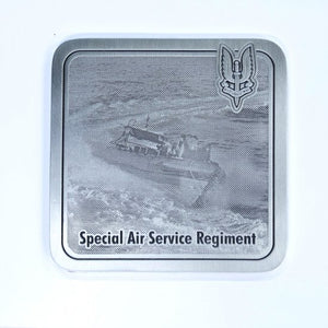 The Special Air Service Regiment Coaster- With Boat In Water (SASR) - Buckingham Pewter