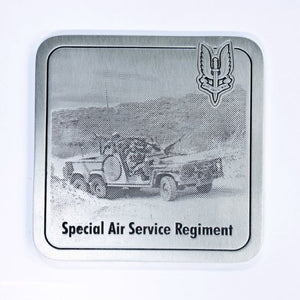 The Special Air Service Regiment Coaster - With LRPV Vehicle (SASR) - Buckingham Pewter