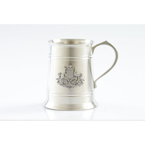 The Australian Coat of Arms 560 ml Tankard-Buckingham Pewter