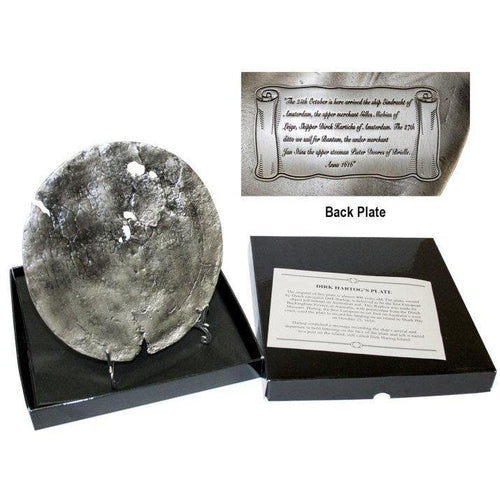 Dirk Hartog pewter plate replica-Buckingham Pewter
