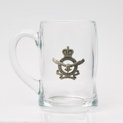Glass Tankard 480 ML with Royal Australian Air Force Badge