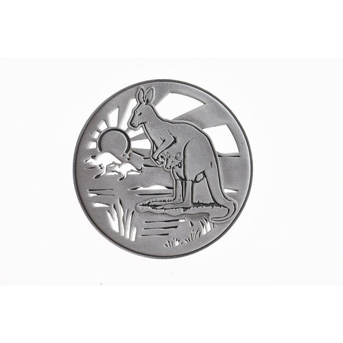 Kangaroo Coaster 3D-Buckingham Pewter