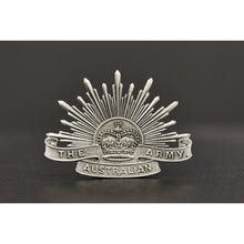 Load image into Gallery viewer, The Australian Army Rising Sun Pewter Lapel Pin Large - Buckingham Pewter