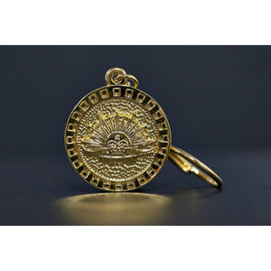 The Australian Army Rising Sun Pewter Keyring GOLD PLATED-Buckingham Pewter