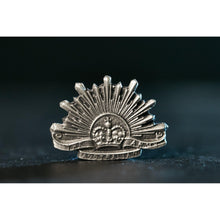 Load image into Gallery viewer, The Australian Rising Sun Pewter Lapel Pin Small - Buckingham Pewter