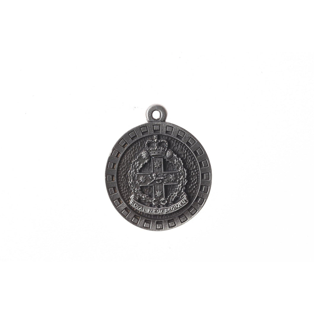 The Royal New South Wales Regiment Pewter Keyring (RNSWR) - Buckingham Pewter