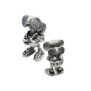 PF009 Pewter Kenny Koala with backpack-Buckingham Pewter