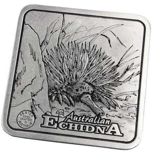 Pewter Animal Echidna Coaster / Miniture Collectors Plate-Buckingham Pewter