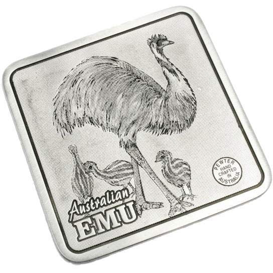 Pewter Animal Emu Coaster / Miniture Collectors Plate-Buckingham Pewter