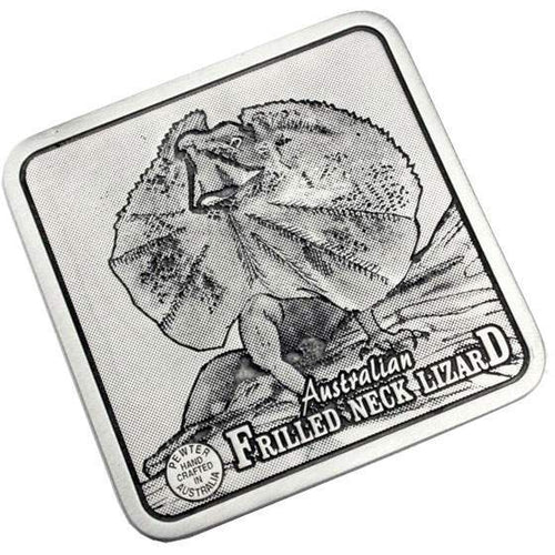 Pewter Animal Frilled Neck Lizard Coaster / Plate-Buckingham Pewter