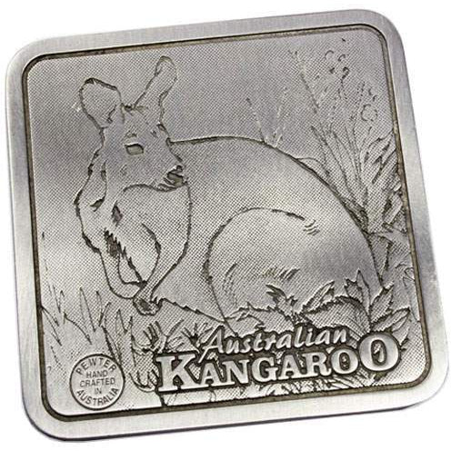 Pewter Animal Kangaroo Coaster / Plate-Buckingham Pewter