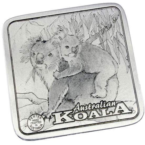 Pewter Animal Koala Coaster / Miniture Collectors Plate-Buckingham Pewter