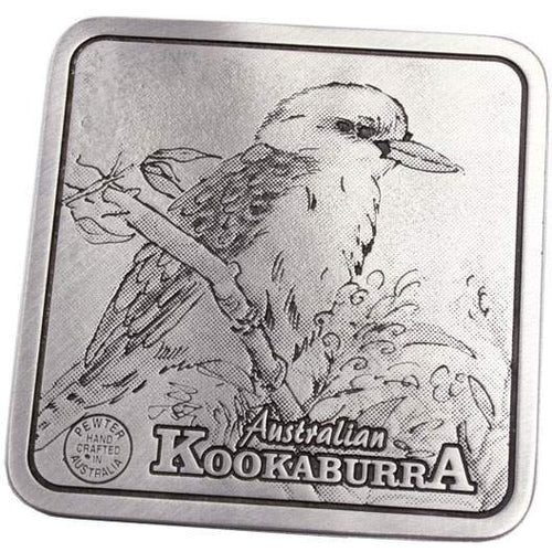 Pewter Animal Kookaburra Coaster / Plate-Buckingham Pewter