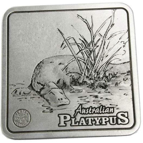 Pewter Animal Platypus Coaster / Miniture Collectors Plate-Buckingham Pewter