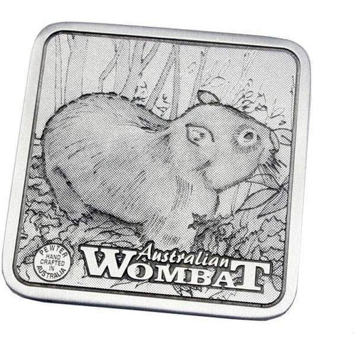 Pewter Animal Wombat Coaster / Miniture Collectors Plate-Buckingham Pewter