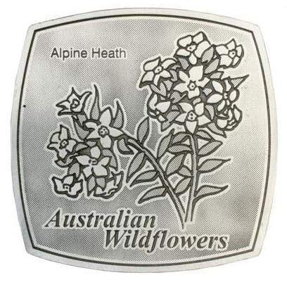 Pewter Australian Wildflowers - Alpine Heath Coaster / Plate-Buckingham Pewter