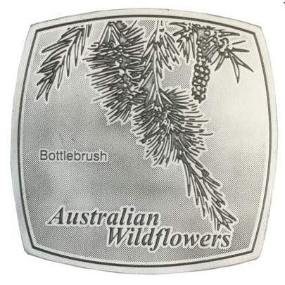 Pewter Australian Wildflowers - Bottlebrush Coaster / Plate-Buckingham Pewter
