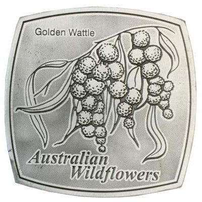 Pewter Australian Wildflowers - Golden Wattle Coaster / Plate-Buckingham Pewter