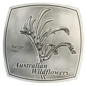Pewter Australian Wildflowers - Kangaroo Paw Coaster / Plate-Buckingham Pewter