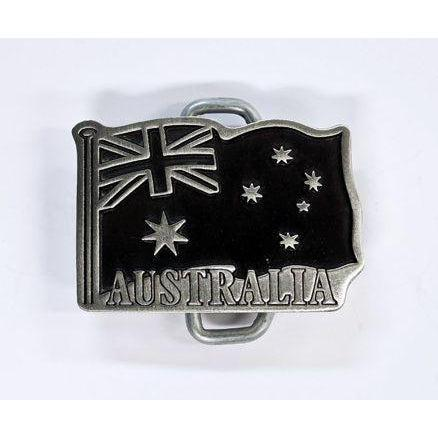 Australian Flag Pewter Belt Buckle - Small - Buckingham Pewter