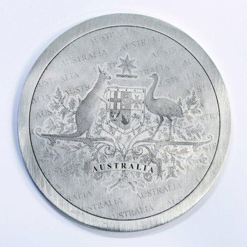 Pewter Coaster Australian Coat Of Arms - Buckingham Pewter