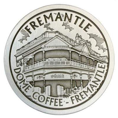 Pewter Fremantle Landmark - DOME Coffee Fremantle Coaster-Buckingham Pewter