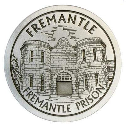 Pewter Fremantle Landmark - Fremantle Prison Coaster / Plate-Buckingham Pewter