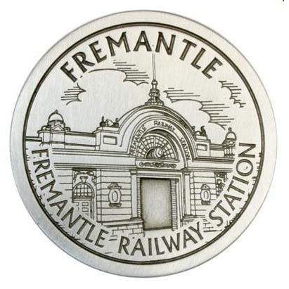 Pewter Fremantle Landmark - Fremantle Railway Station Coaster-Buckingham Pewter