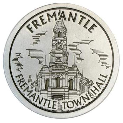 Pewter Fremantle Landmark - Fremantle Town Hall Coaster / Plate-Buckingham Pewter