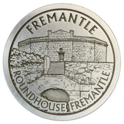 Pewter Fremantle Landmark - Roundhouse Fremantle Coaster / Plate-Buckingham Pewter
