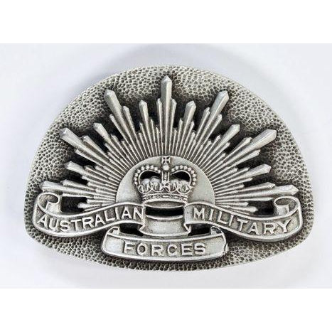 Australian Military Forces Pewter Belt Buckle - Buckingham Pewter