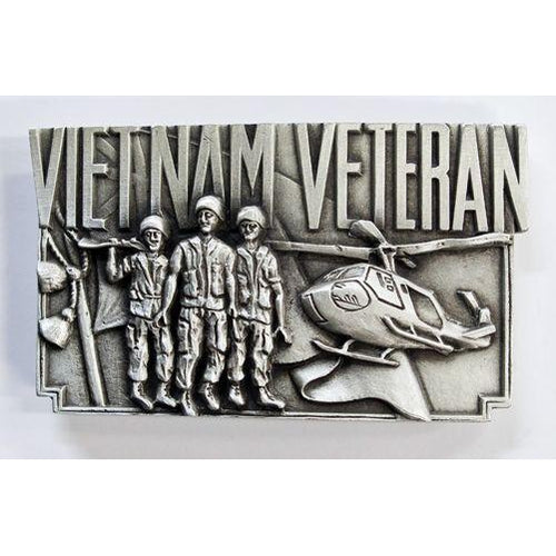 Vietnam Veterans Pewter Belt Buckle - Buckingham Pewter