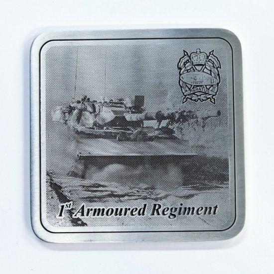 1st Armoured Regiment Pewter Coaster - Paratus - Buckingham Pewter