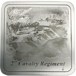 2nd Cavalry Regiment Pewter Coaster - Buckingham Pewter