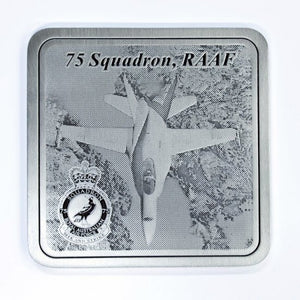 Pewter Military Coaster 75 Squadron-Buckingham Pewter