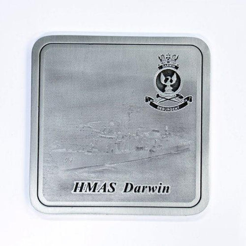 Pewter Military Coaster HMAS Darwin - Buckingham Pewter