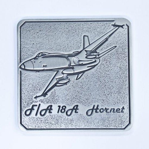 Pewter Military Coaster Royal Australian Air Force RAAF - F/A 18-Buckingham Pewter