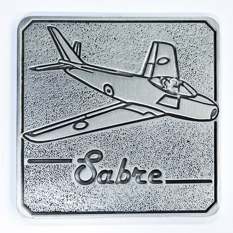 Pewter Military Coaster Royal Australian Air Force RAAF - Sabre-Buckingham Pewter