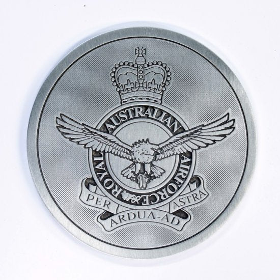 Pewter Military Coaster Royal Australian Air Force RAAF-Buckingham Pewter