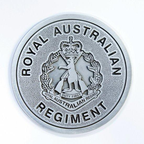 The Royal Australian Regiment Pewter Coaster (RAR) - Buckingham Pewter