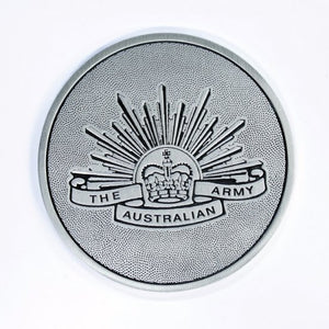 The Australian Rising Sun Pewter Coaster - Buckingham Pewter