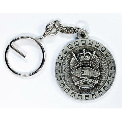 1st Armoured Regiment Pewter Keyring (Paratus) - Buckingham Pewter