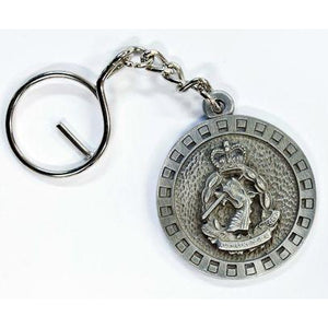 The Royal Australian Army Dental Corps Pewter Keyring (RAADC) - Buckingham Pewter