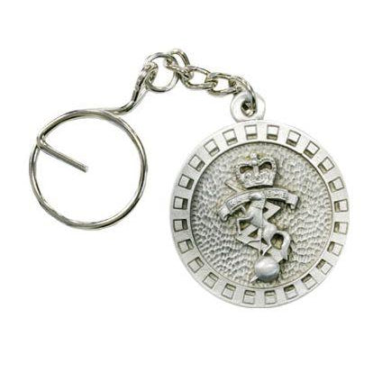 The Royal Corps of Australian Electrical and Mechanical Engineers Pewter Keyring Electrical & Mechanical (RAEME) - Buckingham Pewter