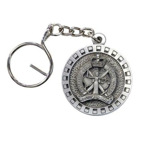 The Australian Army Legal Corps Pewter Keyring (AALC) - Buckingham Pewter