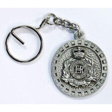 The Royal Queensland Regiment Pewter Keyring (RQR) - Buckingham Pewter