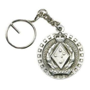 The Women's Royal Australian Army Corps Pewter Keyring (WRAAC) - Buckingham Pewter